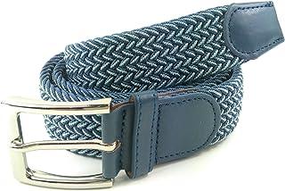 senza fibbia Yaomiao Cintura elastica con bottone automatico in ottone e un paio di fibbie in ottone marrone
