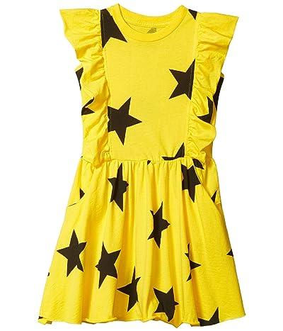 Nununu Ruffled Star Dress (Infant/Toddler/Little Kids) (Lava Yellow) Girl