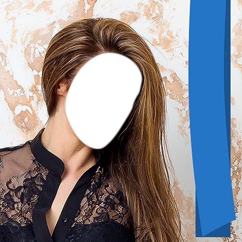 Frau Langes Haar Foto Montage