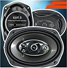 $38 » 2X Audiotek 700 Watt Per Pair, 6 x 9 Inch, Full Range, 5 Way Car Speakers Sold in Pairs Speakers CEA Rated Polyester Foam ...