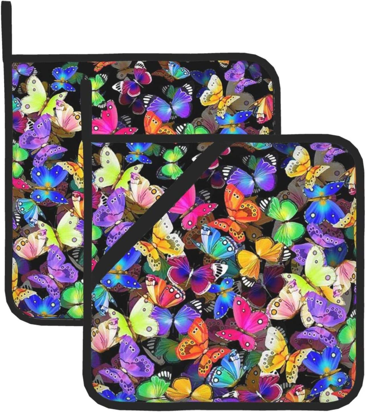 Colorful Butterfly Pot A surprise price is realized Minneapolis Mall Holders for Resistant H Oven Heat Kitchen