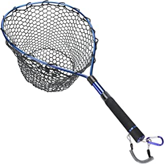 Goture Fly Fishing Landing Trout Net Catch and Release Net - Wooden Frame with Soft Rubber Mesh