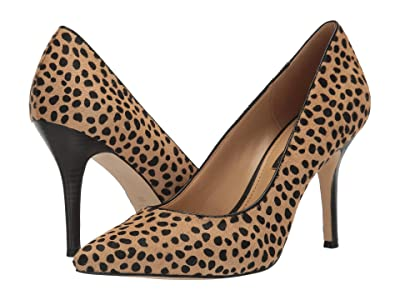 Nine West Flax Pump (Camel/Black) High Heels