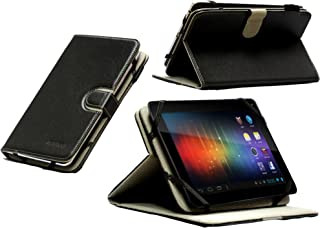 Navitech Black Faux Leather Case Cover with 360 Rotational Stand Compatible with The Nook Tablet/Nook Colour/Nook HD/Kobo Vox/Kobo Arc