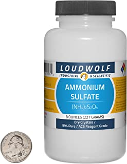 Ammonium Sulfate / 8 Ounce Bottle / 99% Pure ACS Reagent Grade/Dry Crystals
