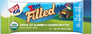 CLIF KID ZBAR FILLED - Organic Granola Bars - Apple Almond and Cashew Butter (1.06 Ounce Lunch Box Snacks, 12 Count)