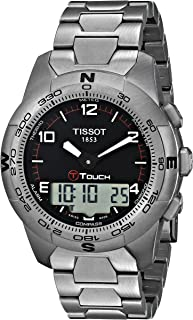 Tissot - T0474204405700 - Reloj analógico de caballero de cuarzo con correa de titanio plateada