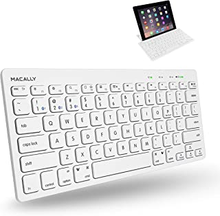 Macally BTMINIKEY, compact Quick-Switch Bluetooth-toetsenbord voor Mac, PC, iOS en Android, US QWERTY Key Cap-indeling
