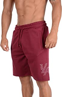 YoungLA Workout Shorts for Men | Cotton Active Gym Training Running Basketball | Pockets 115