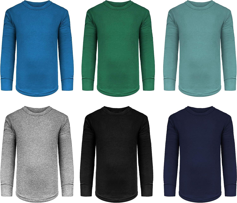 2021 new Boys Toddler 6 Pack Fashion Athletic Undershirt Sleeve Performance Long