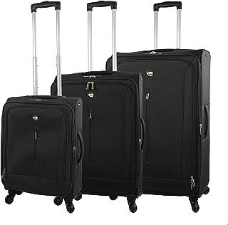 مجموعة حقائب السفر الدوارة تينا سوفت سايد من ميا تورو، 3 قطع، لون أسود