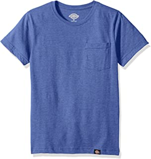 Dickies Boys Slim Fit Lightweight Tee Short Sleeve T-Shirt - Blue - Large