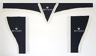 Scania compatible con Mercedes Renault, David Volvo color burdeos con cuerdas blancas Juego completo de cortinas para cami/ón Man Ivco