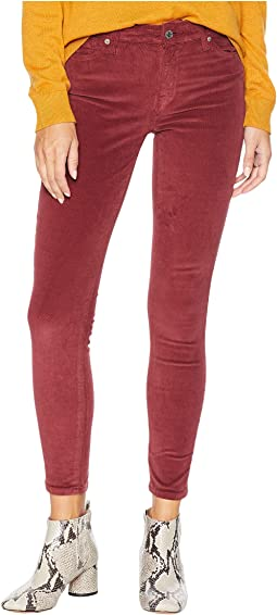 Ava Mid-Rise Skinny Jeans in Cabernet