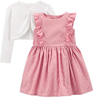 Simple Joys by Carter's Girls' 2-Piece Special Occasion Dress and Cardigan Set