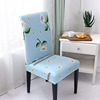 T-CYYT 2 Pieces Universal Chair Cover Explosion Hotel Chair Package Chair Cover Siamese Stretch Office Computer, Vanilla Sky