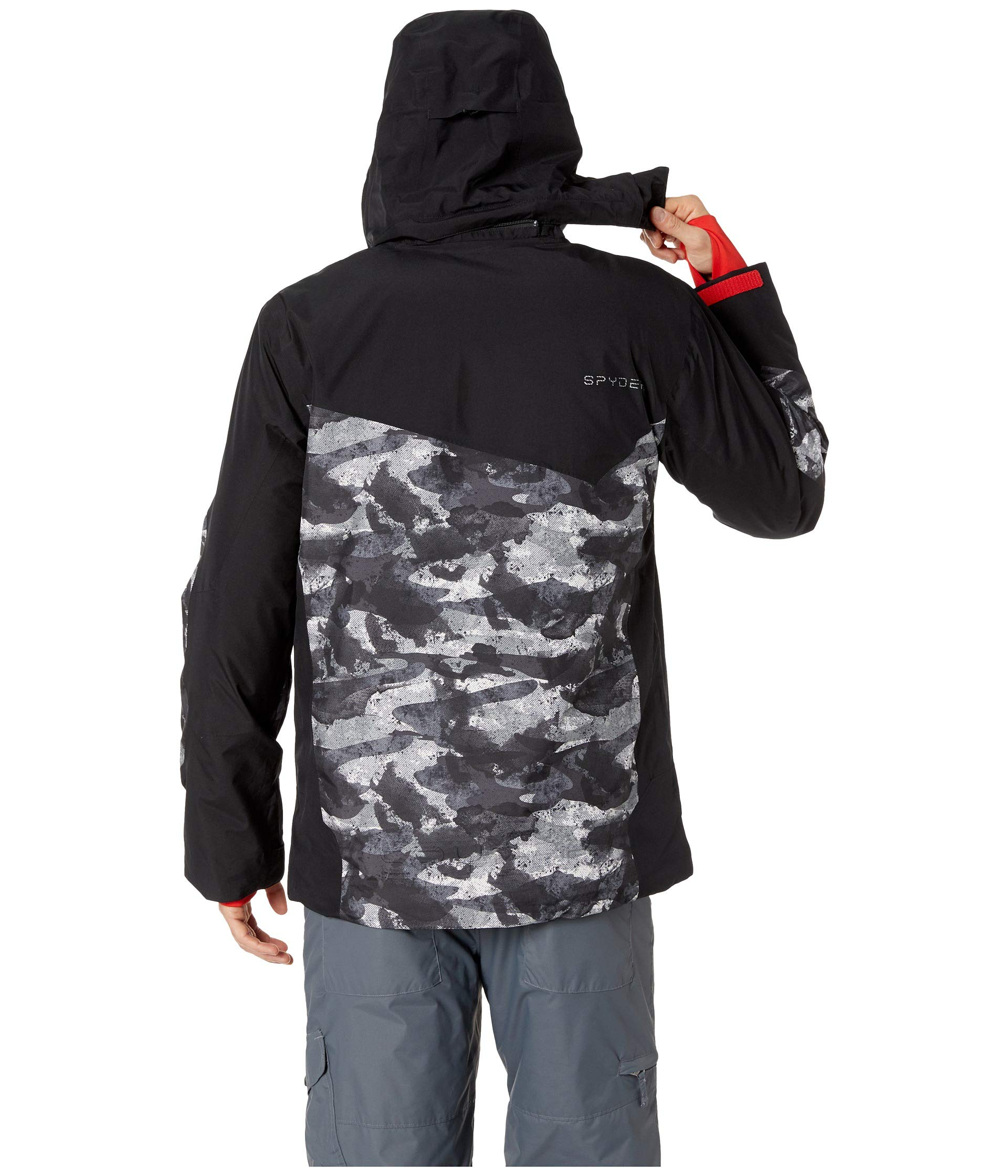Distress Chambers black volcano Black Spyder Jacket Camo ZF8xwtgOxq