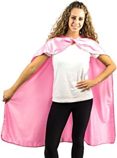 Superhero Cape Pretend Play Dress Up Costume Solid Satin One Size fits 3-8
