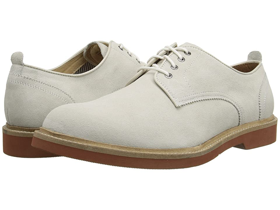 Edwardian Men's Shoes- New shoes, Old Style Florsheim Bucktown Plain Ox White Suede Mens Lace up casual Shoes $114.95 AT vintagedancer.com