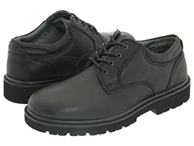 Dockers Shelter Plain Toe (Black Full Grain Leather) Men