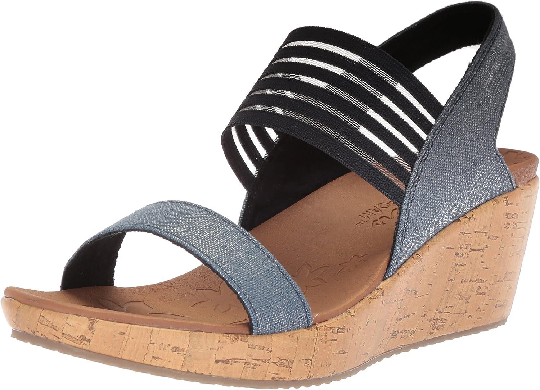 Skechers Womens Beverlee - Smitten Kitten Wedge Sandal