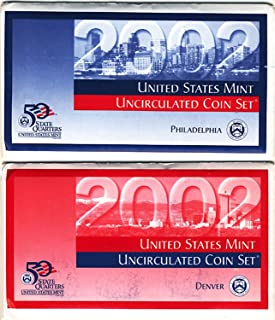 2002 P&D US Mint Uncirculated Coin Mint Set Sealed Unicirculated