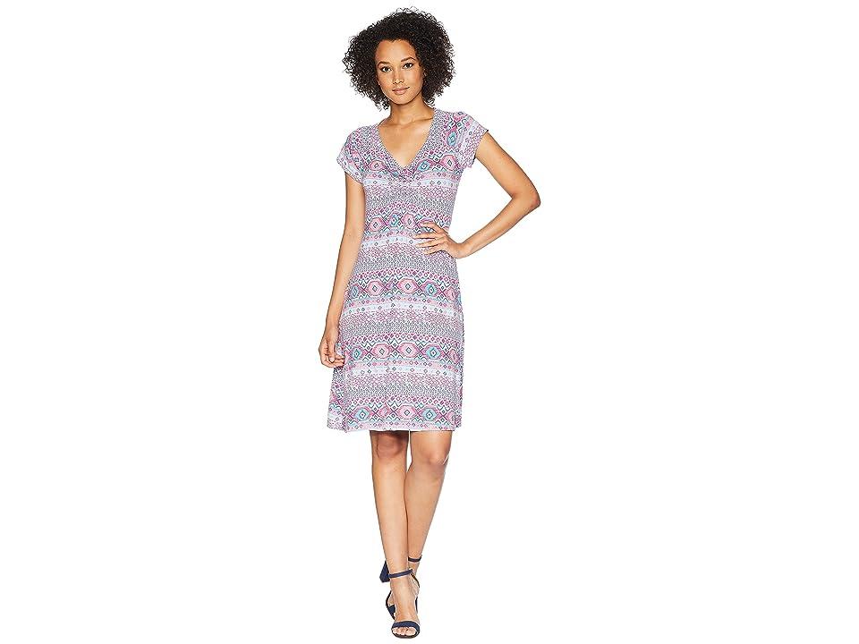 Fresh Produce Stamped Geo Emma Dress (Wisteria) Women