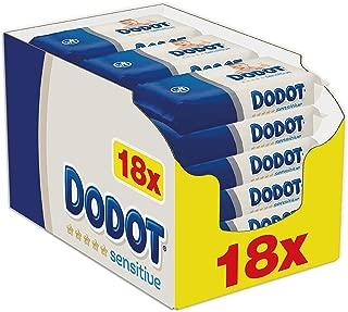 Dodot Sensitive - Toallitas bebé, 18 paquetes, 972 toallitas