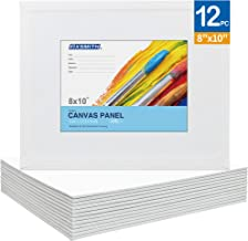 FIXSMITH-Painting-Canvas-Panels,8x10 Inch Canvas Board Super Value 12 Pack Canvases,100% Cotton,Primed Canvas Panel,Acid F...