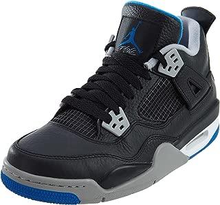 Nike Air Jordan 4 Retro BG Hi Top Trainers 408452 Sneakers Shoes (UK 4.5 Us 5Y EU 37.5, Black Soar Silver White 006)