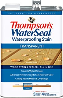 THOMPSONS WATERSEAL TH.041811-16 Transparent Waterproofing Stain, Harvest Gold