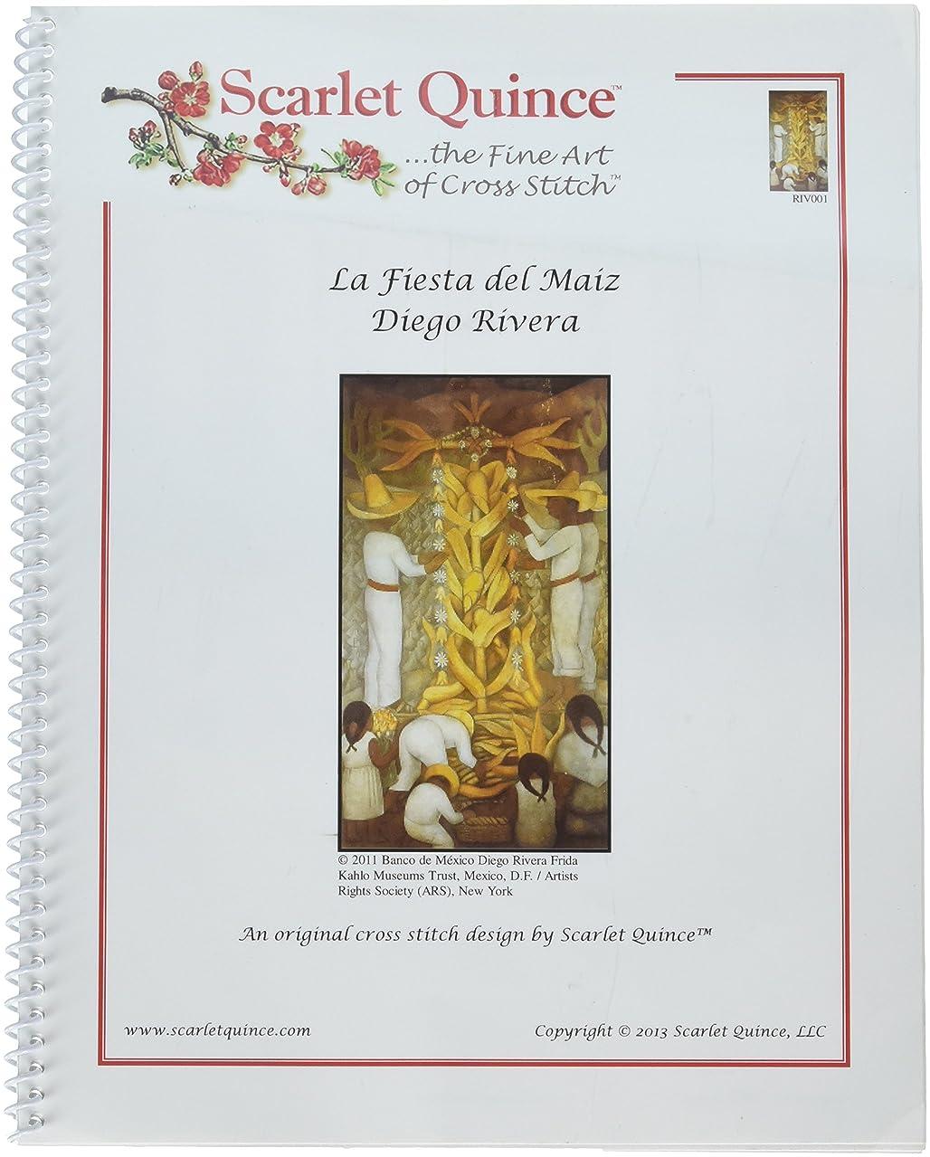 Scarlet Quince RIV001 La Fiesta del Maiz by Diego Rivera Counted Cross Stitch Chart, Regular Size Symbols