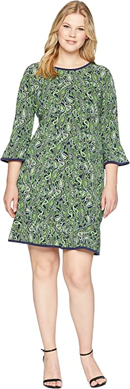 Plus Size Paisley Flounce Dress