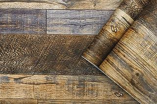 Vinyl tapet träkorn papper skarvning peel & stick tapet vintage brun grå trä strukturerad avtagbar självhäftande tapet skr...