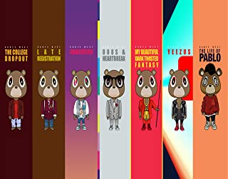Kanye West Bear Art Poster - Unframed 11x14 Inches Canvas Art Print