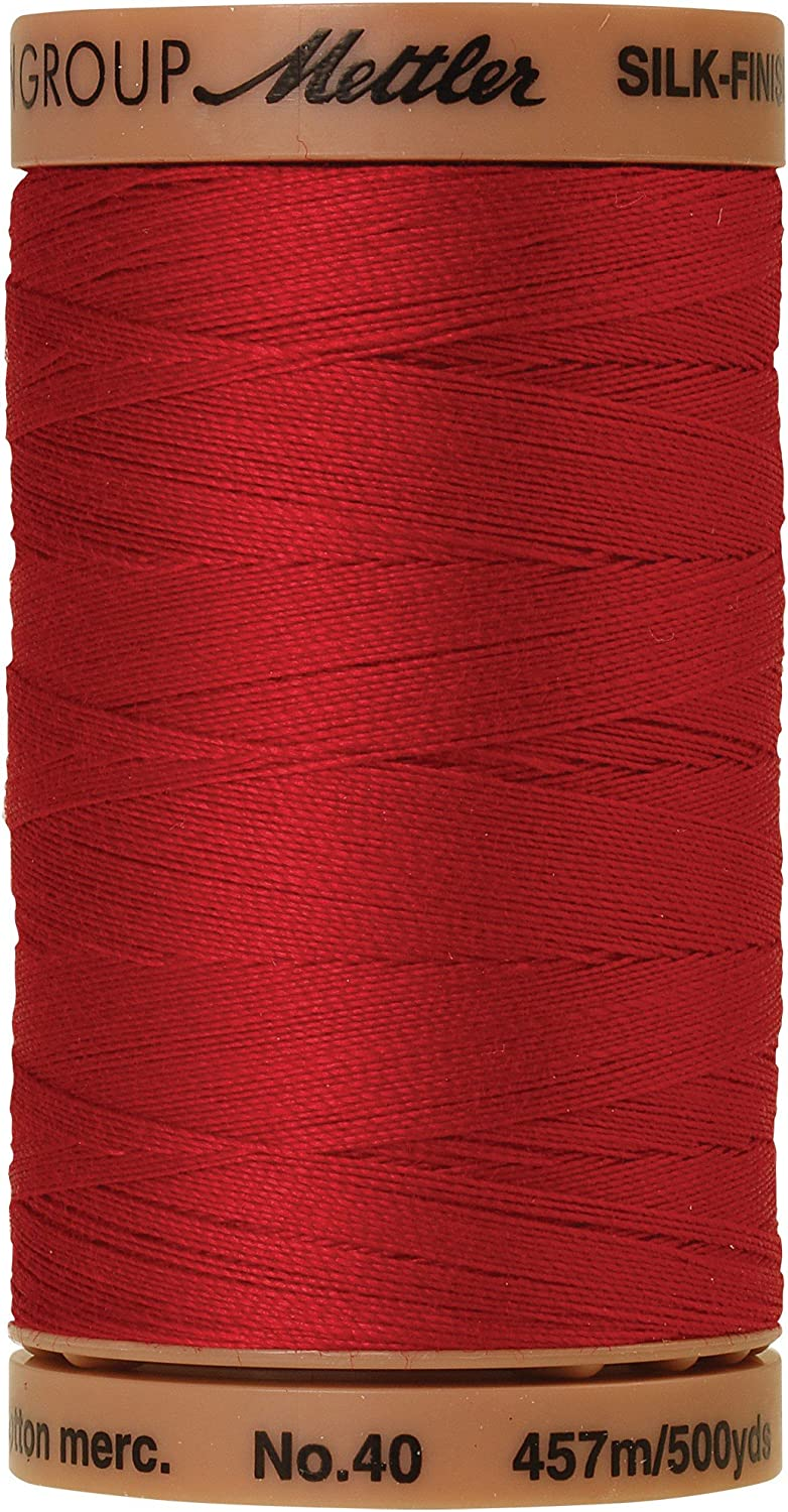 Sacramento Mall Mettler Cotton Courier shipping free Machine Quilting 500-Yard Thread Red Country