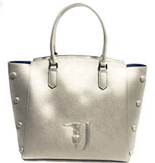 Trussardi Jeans Melissa Shopping Bag Covered Studs, Borsa a Spalla Donna, 32x32x15.5 cm (W x H x L)