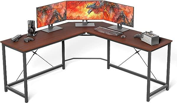 L Shaped Desk Home Office Desk Large Desk Panel Coleshome Computer Desk Sturdy Computer Table Writing Desk Workstation African Walnut
