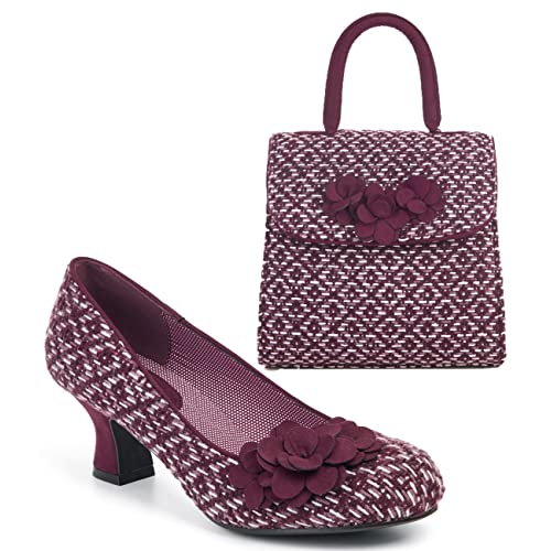 b440c14449fa Ruby Shoo Women s Petra Mid Heel Court Shoe Pumps   Matching Bari Bag