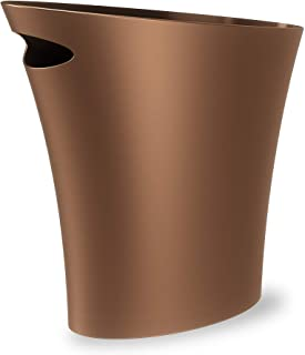 Umbra Skinny Sleek & Stylish Bathroom Trash, Small Garbage Can Wastebasket for Narrow..