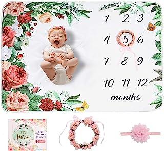 Baby Milestone Stickers Headband Blankets