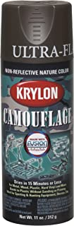 Krylon Camouflage With Fusion For Plastic Paint Brown - Lot of 6