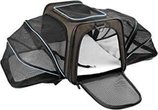 X-ZONE PET Expandable Travel Dog Carrier with Fleece Mat, Most Airline Approved Pet Carrier for Easy Carry on Luggage, Sof...