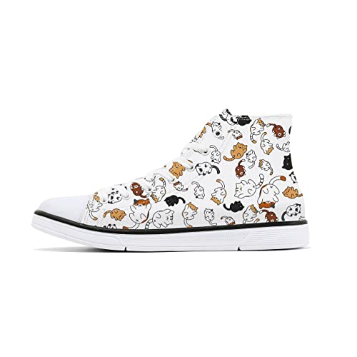 45845a61867 FIRST DANCE Shoes for Women Animal Printed Shoes High Tops Ladies Cute Cat  Shoes for Women