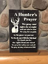 Ruskin352 A Hunters Prayer Wooden Sign White Tail Deer Hunting Sign Deer Hunting Sign Buck Sign