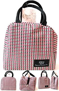 Ixion Innovations Classy V.i.B Ladies Lunch Bags For WorkTote Thermal Lunch Bag Container Kit Holder Women Lunch Bag Black Red White Design
