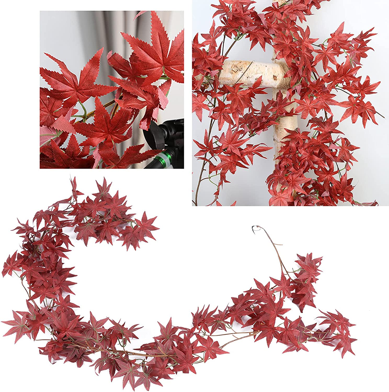 Faux Leaves Cheap mail order sales Plastic 1.8m 5.9ft Courtyard Artificial for Plants Daily bargain sale