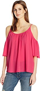 French Connection Women's Polly Plains Cold Shoulder Top