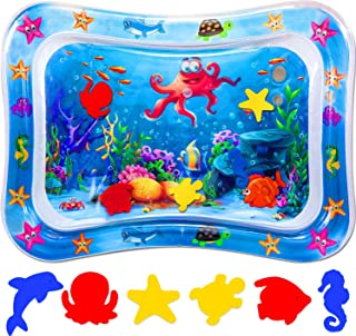ProAussie Tummy Time Baby Water Mat, Premium Inflatable Baby Play Mat Activity Centre for Infants Baby Toys 0 3 6 9 12 Mon...