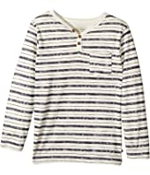 Lucky Brand Kids - Long Sleeve Stripe Pocket Tee (Little Kids/Big Kids)